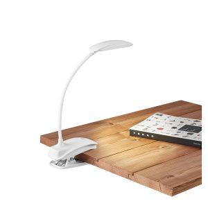 Luminária de mesa Promocional | Luminária de mesa. ABS. Com mola. LED COB com 3 modos de luz (fraco, médio e forte). Autonomia até 20 horas.